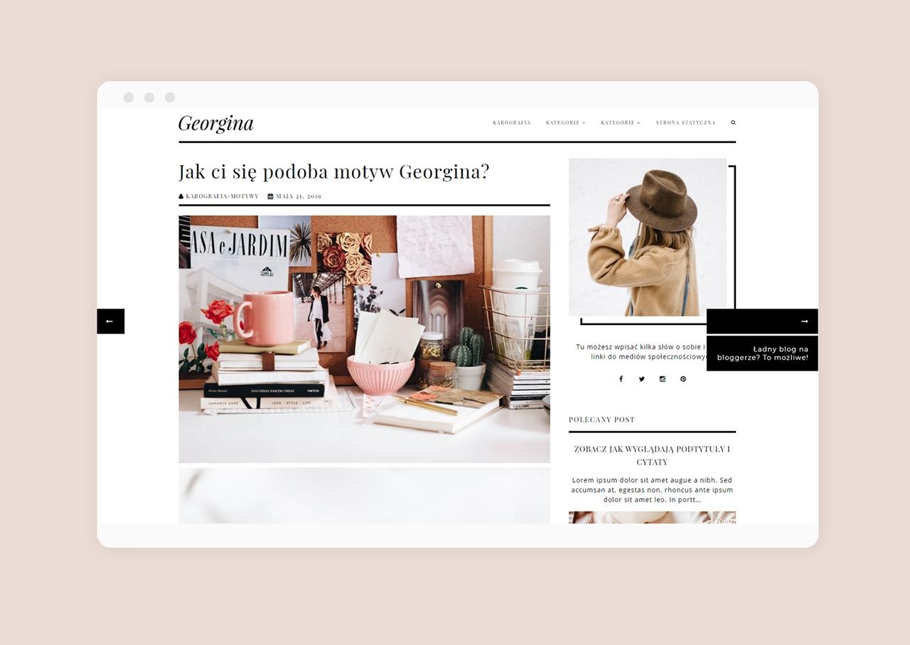 Szablon blogger Georgina