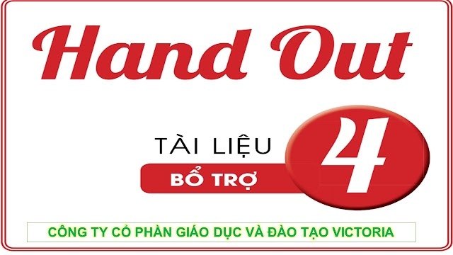 Handout Bổ Trợ Tiếng Anh 4 - Victoria
