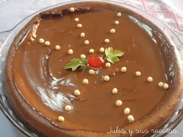 Tarta de queso y chocolate. Julia y sus recetas