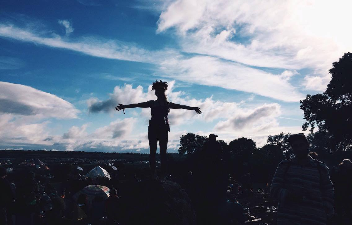 Glastonbury, stone circle, Dulcie's feathers, silhouette