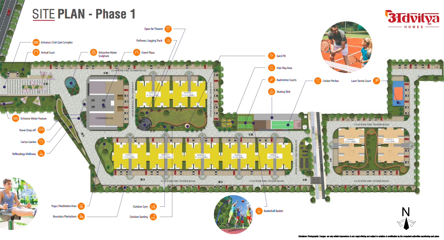 Advitya Homes Site Layout Plan