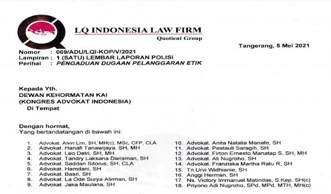 Natali Rusli Diadukan Etik ke Dewan Kehormatan Kongress Advokat Indonesia atas Dugaan Penipuan