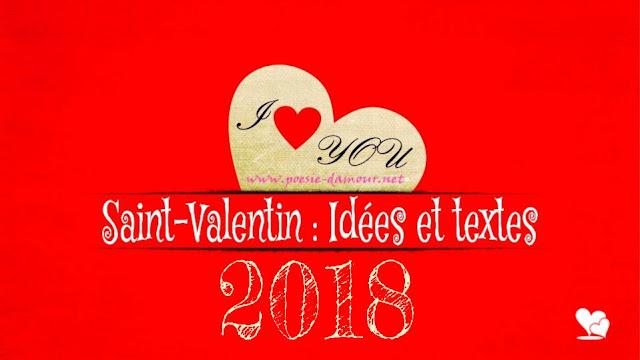 Jolie carte de vœux pour la fête de la Saint-Valentin 2018