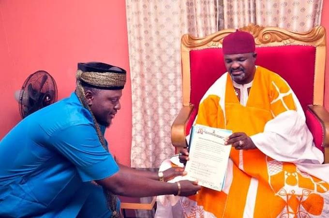 Taraba Monarch Endorse Arewa Gospel Musika2021 (Photos)
