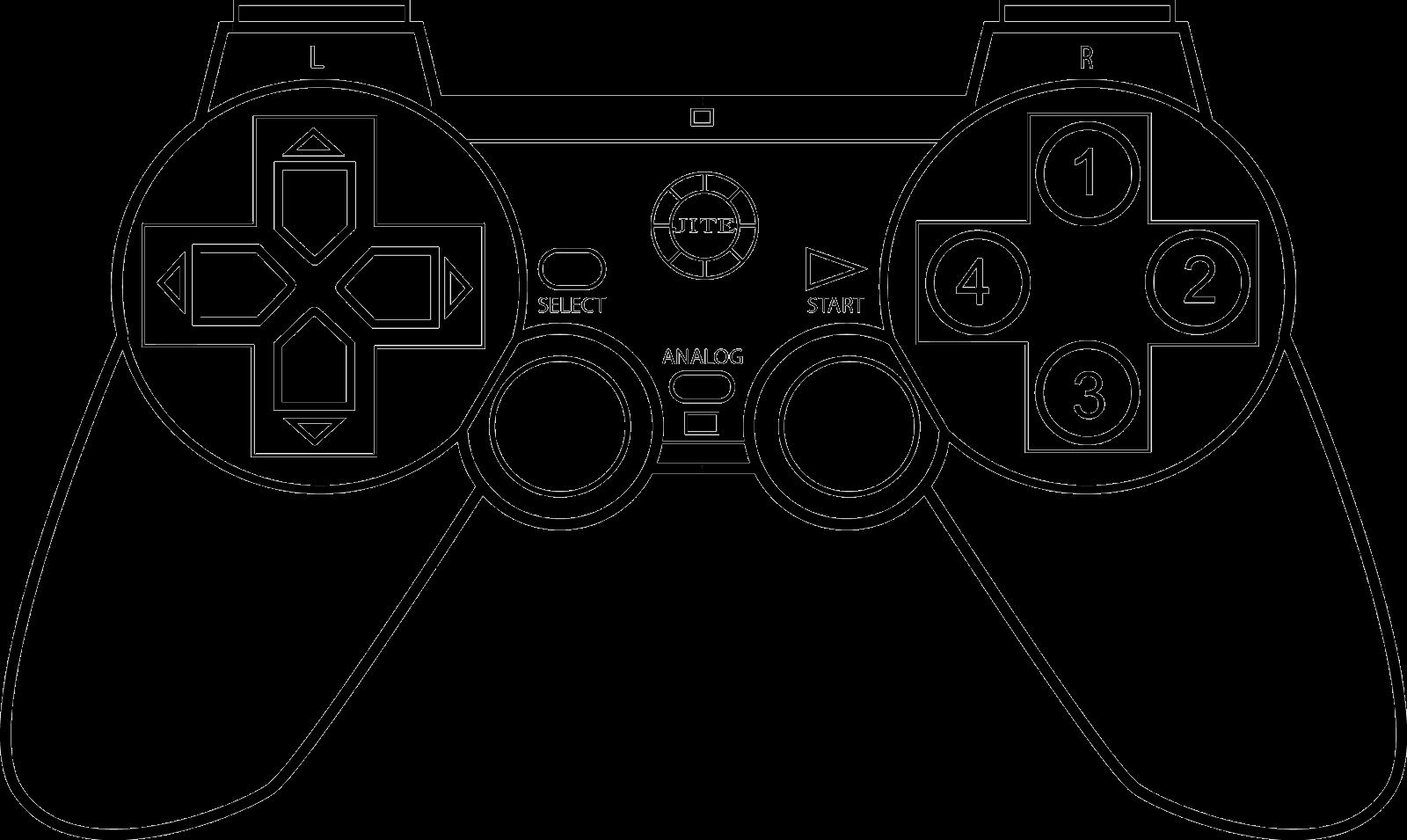 Dibujo De Consola De Juego Para Colorear: Game Controller Coloring Page Sketch Coloring Page