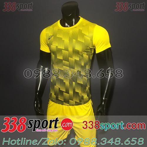 Mẫu Áo Bóng Đá Không Logo Đẹp Nike LaMa Vàng