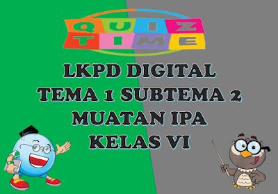 LKPD Digital Muatan IPA Kelas VI Tema 1 Subtema 2