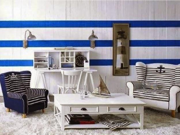 diseño sala estilo marinero