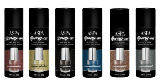 coleçaõ spray-on; cores neutras; esmaltes em spray