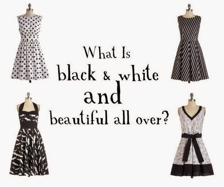 Black and White Dresses - Fashion Style Ideas - Affordable Party Dresses and Clothing