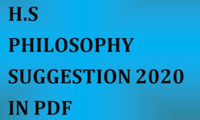 HS PHILOSOPHY SUGGESTION 2020 PDF DOWNLOAD
