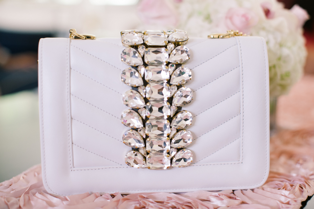 white leather clutch purse glam chic