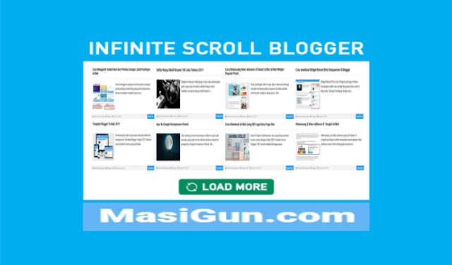 infinite scroll blogger