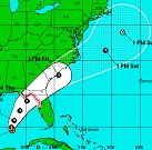 Invest 99L, Possible Tropical Storm Hermine, South Florida Path Changes