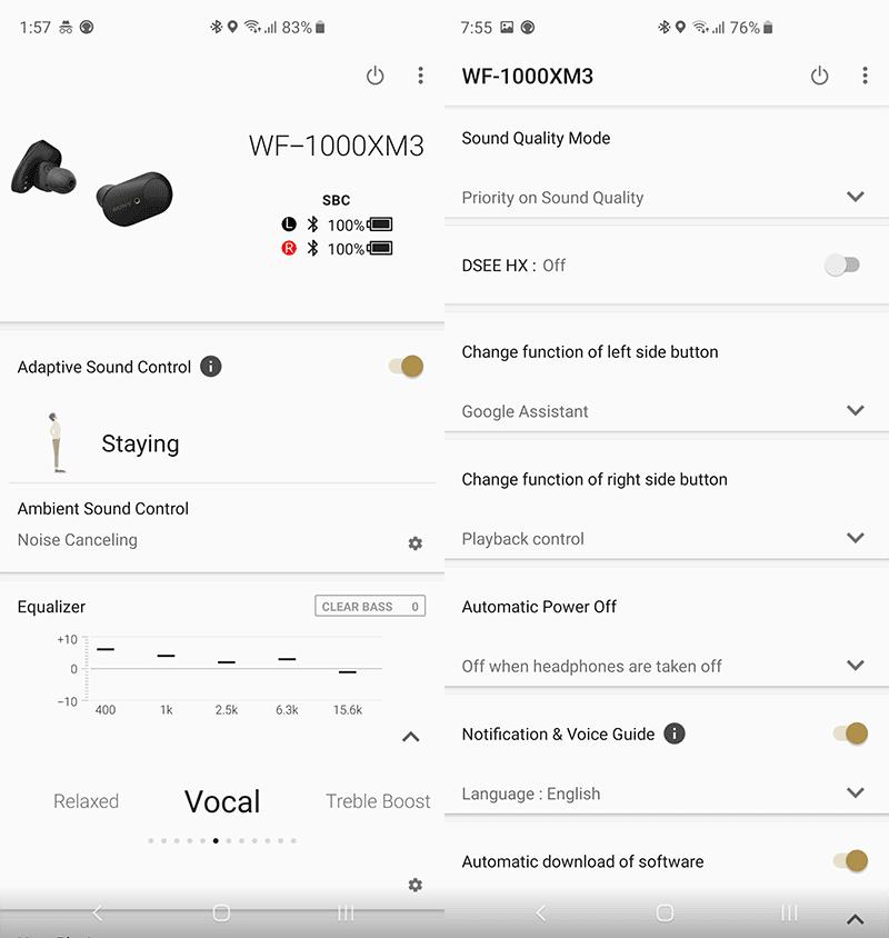 Sony Headphones app