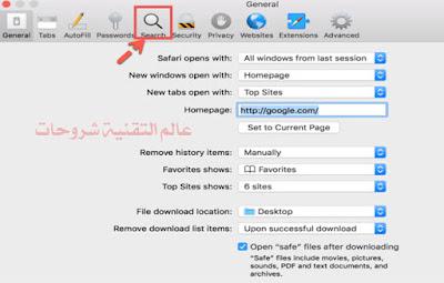 طريقة-تغيير-محرك-البحث-الافتراضي-في-متصفح-سفاري-Safari-على-ماك-2