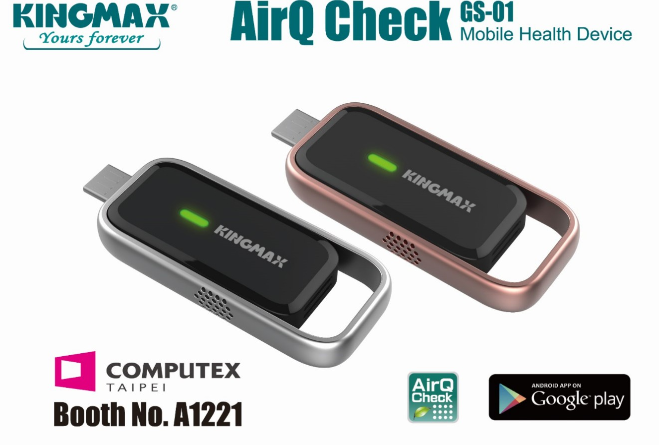 KINGMAX AirQ Check Air Quality Monitoring Mobile Device