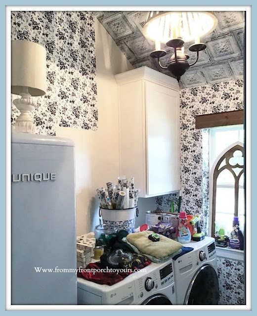 DIY Farmhouse Cottage Style Laundry Room Makeover-From My Front Porch To Yours