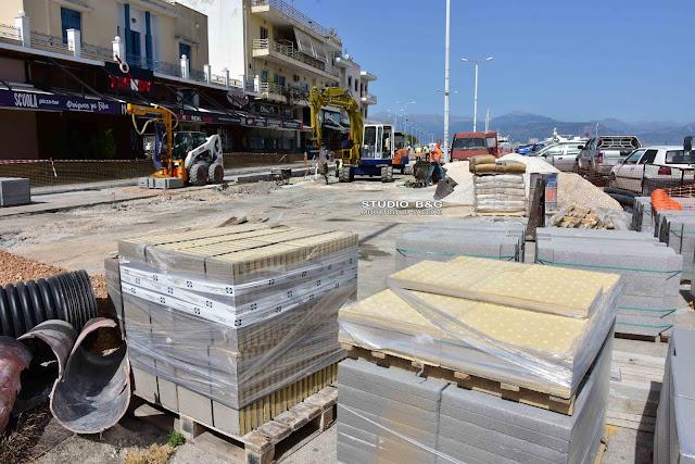 Προχωρούν τα έργα για τον κόμβο στη συμβολή των οδών Μπουμπουλίνας και Πολυζωίδου στο Ναύπλιο