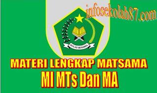 Kumpulan Materi MOS/MATSAMA MI,MTs dan MA Tahun Pelajaran 2019/2020