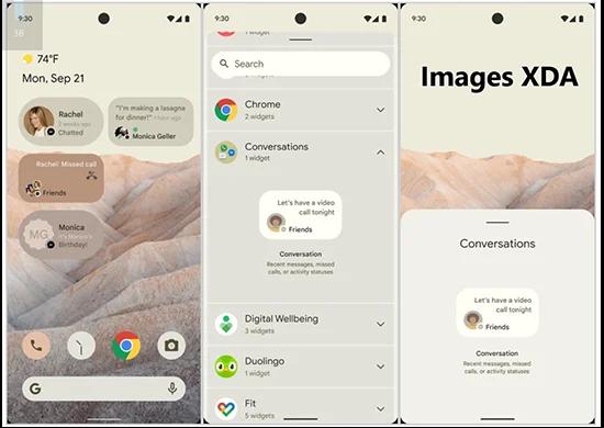 Premier aperçu du système Android 12 de Google.