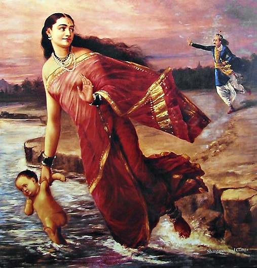 Mahabharat Hindi - Ganga shed her seven sons in the river