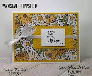 This Crushed Curry card uses Stampin' Up!'s Rare Blessings stamp set and the Ornate Garden Designer Paper.  Click the picture to go to the blog and see a video!  #StampinUp #StampTherapist