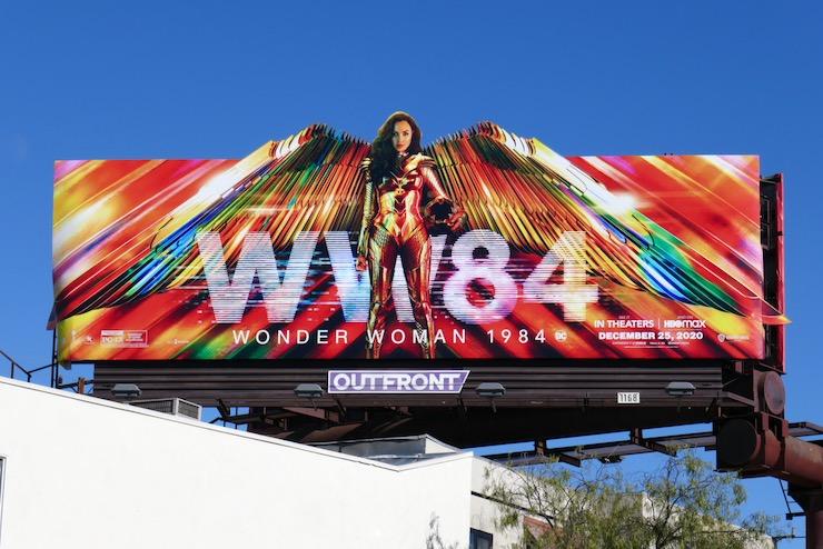 Wonder Woman 1984 cut-out wings billboard