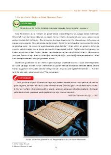 6. Sınıf Kuranı Kerim Ders Kitabı Cevapları Dikey Yayınları Sayfa 13