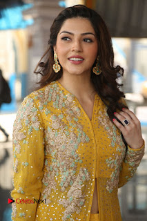 Actress Mehrene Kaur Stills in Yellow Long Dress at Sundeep Kishan New Movie Opening .COM 0016.JPG