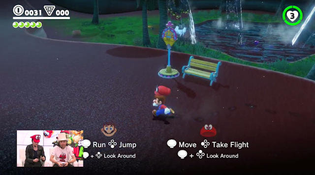 Super Mario Odyssey multiplayer co-op Cappy controls Joy-Con