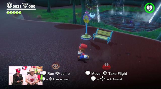 Super Mario Odyssey multiplayer co-op Cappy controls Joy-Con