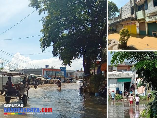 Banjir Bandung Selatan, Jalan Pasar Dayeuhkolot Sepi Kendaraan