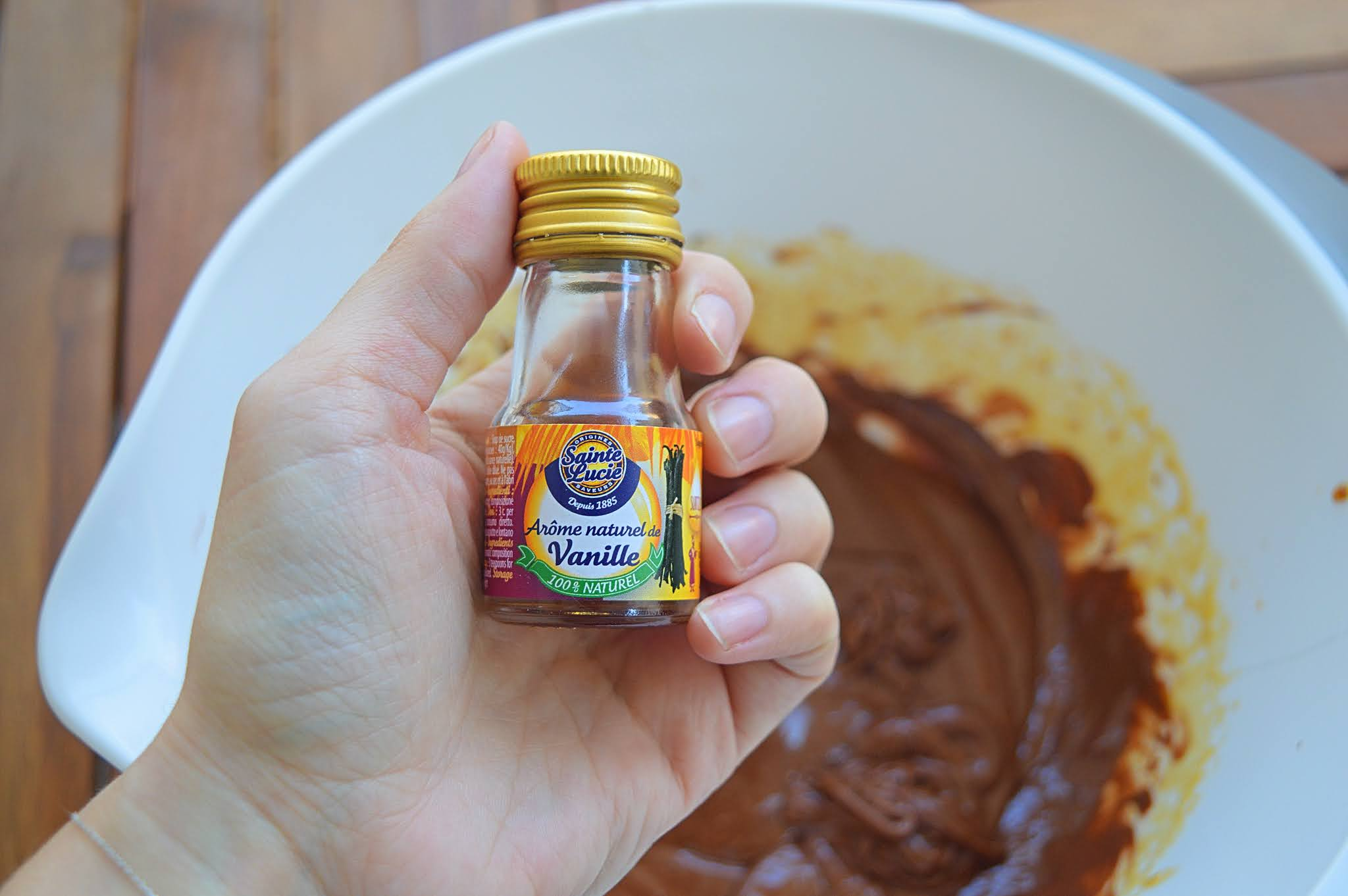 Rajout vanille liquide préparation cookies