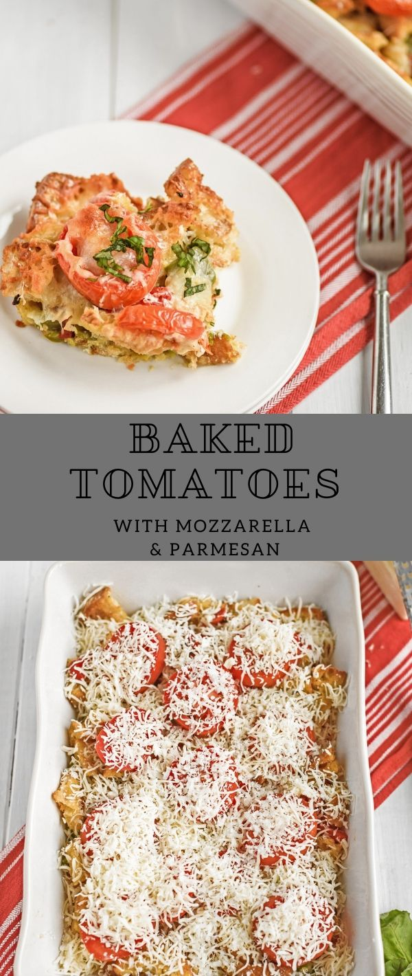 Baked Tomatoes with Mozzarella & Parmesan #Baked #Tomatoes #with #Mozzarella & #Parmesan Dessert Recipes Easy, Dessert Recipes Healthy, Dessert Recipes For A Crowd, Dessert Recipes Peach, Dessert Recipes Simple,