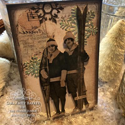 Sara Emily Barker https://sarascloset1.blogspot.com/2019/12/quick-christmas-cards-with-tim-holtz.html Mixed Media Christmas Cards #timholtz #stamperia 12