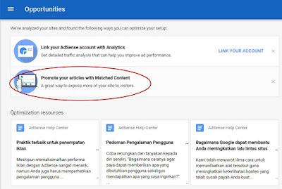 Cara Memperoleh Google Adsense Matched Content