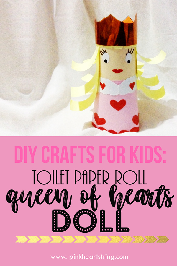 Queen of Hearts Doll from Toilet Paper Roll