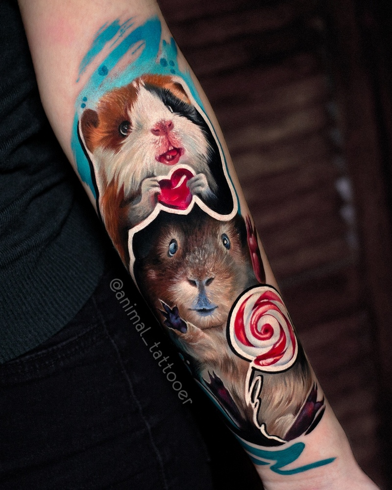 Realistic and colorful Animal Tattoos