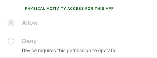 إذن النشاط البدني لخدمات Google Play