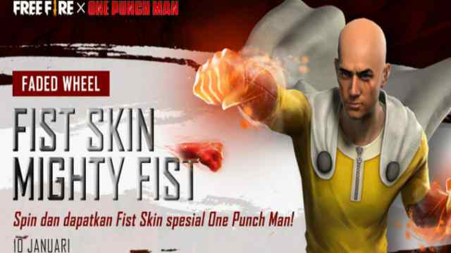 Skin tinju saitama, skin tinju one punch man, skin tinju mighty fist