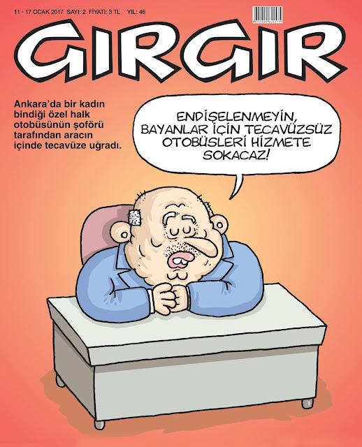 Gırgır Dergisi | 11-17 Ocak 2017 Kapak Karikatürü