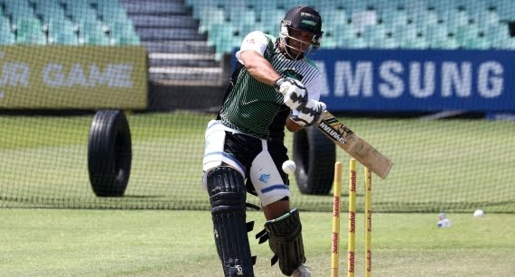 Vaughn van Jaarsveld (Credit: Anesh Debiky) - Hollywoodbets Dolphins - Cricket - Batting - Net Practice