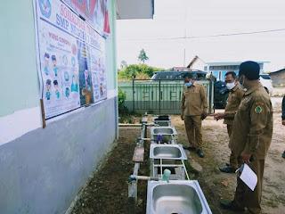 Persiapan Pembelajaran Tatap Muka, Satgas Penangan Covid-19 Samosir Monitoring kesiapan Sekolah