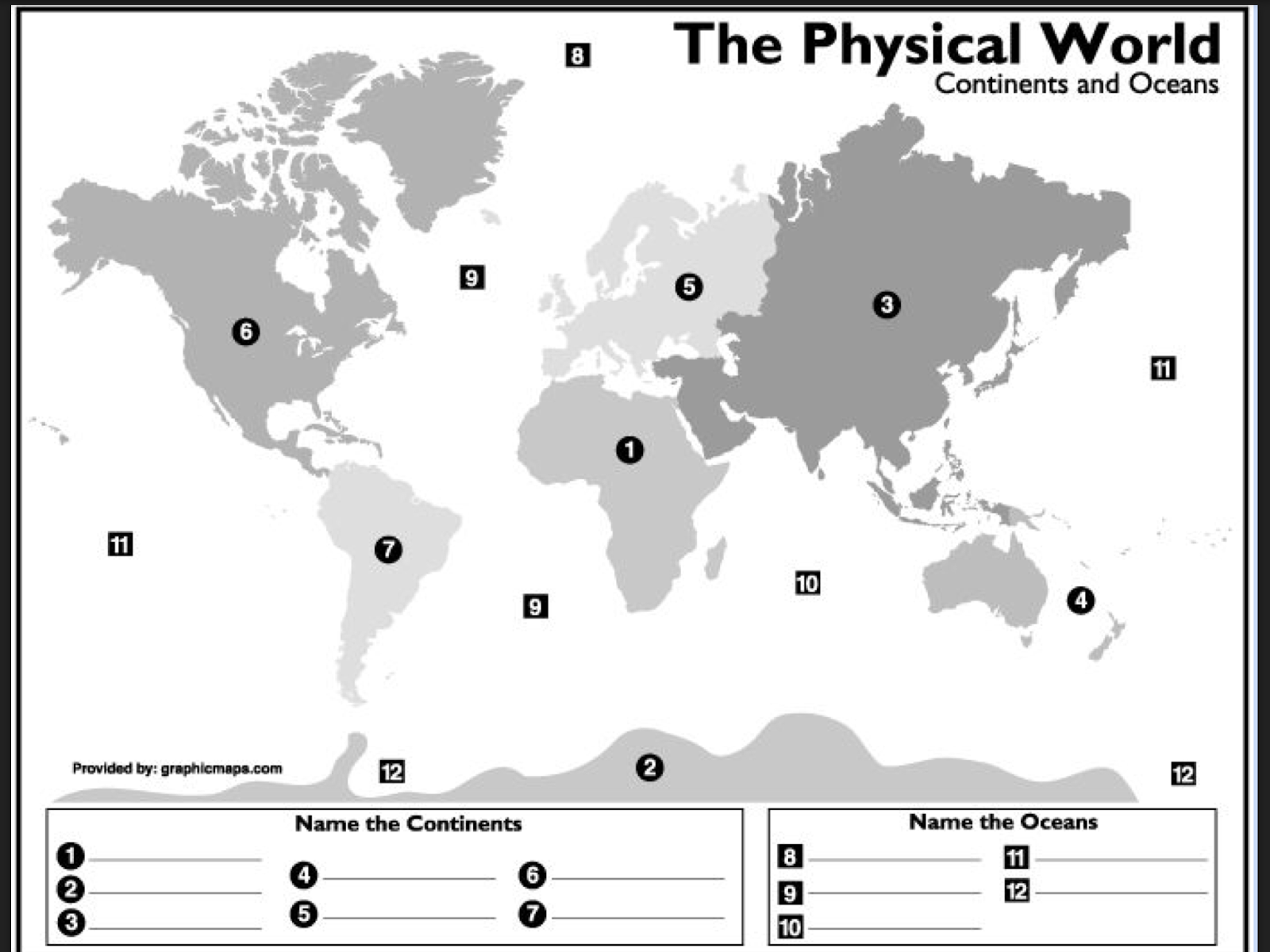 Worksheets The Physical World Continents And Oceans Worksheet the sunshiny tech spot 2nd grade continents and oceans click here to access google drawing label oceans