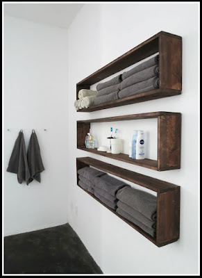 Build Box Shelves on Bathroom