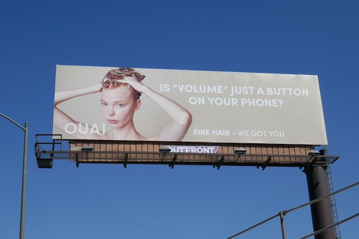 volume button phone Ouai fine hair billboard