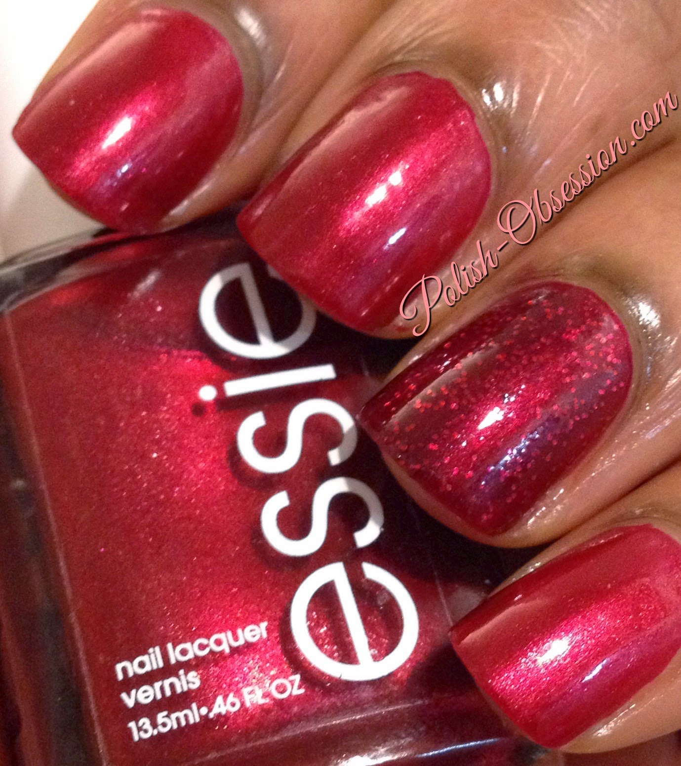 ea3ed97a2b6 I received Essie s Scarlett O Hara and Leading Lady as a gift for Christmas  and I decided to wear them together. Scarlett O Hara is a red metallic  shimmer .