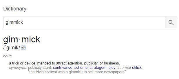 Pengertian Gimmick (Gimik) Menurut Bahasa dan Istilah