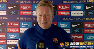 Koeman: Barcelona players are showing a lot of spirit, interest and intensity in training